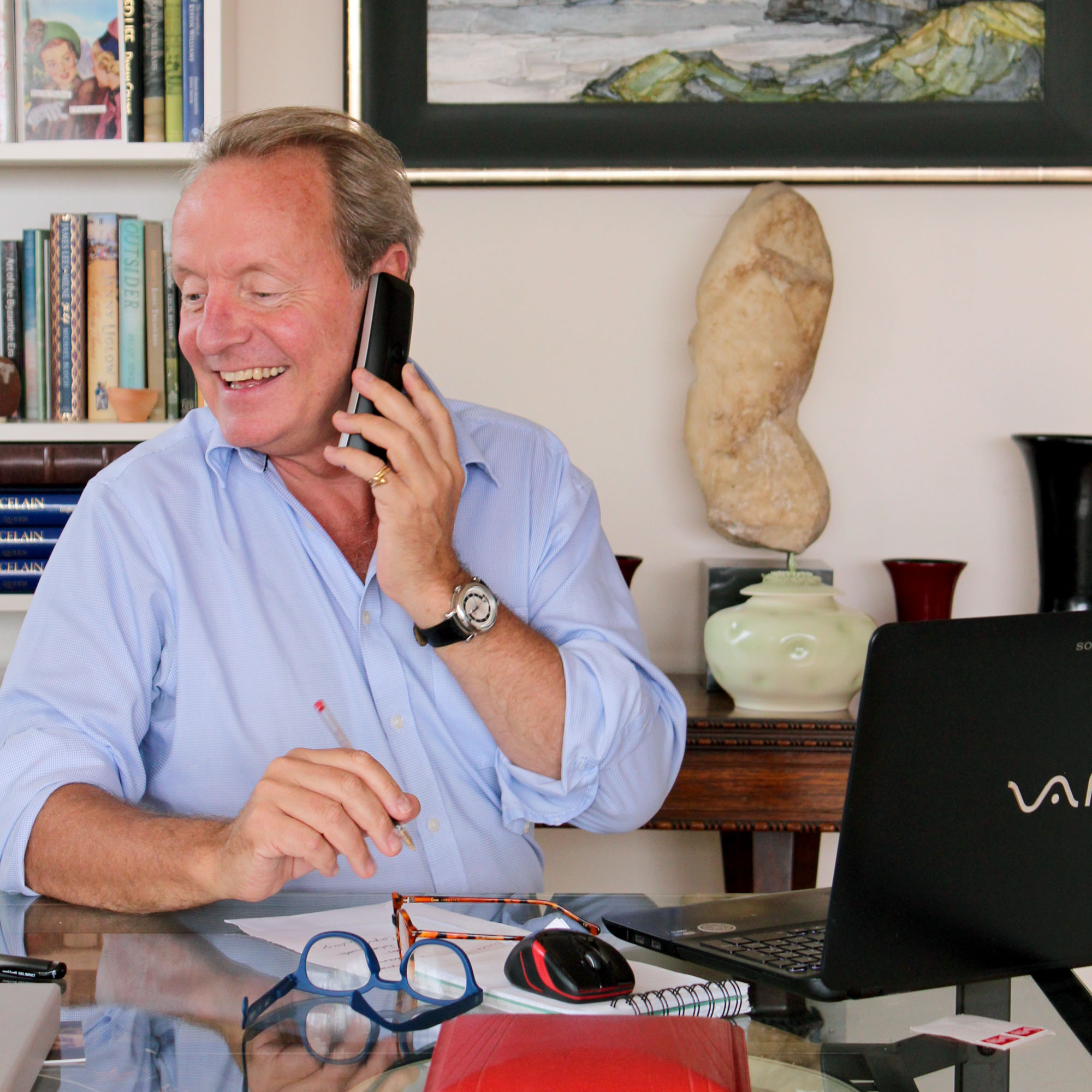 John Lloyd Morgan in his office