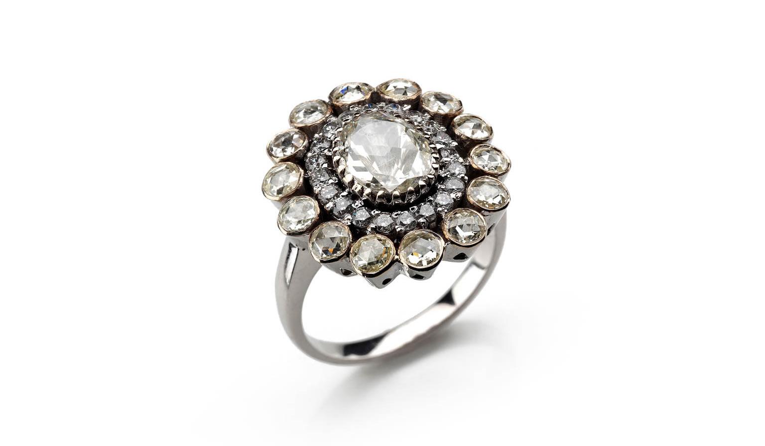 Diamond and White Gold Ring - sku 5488